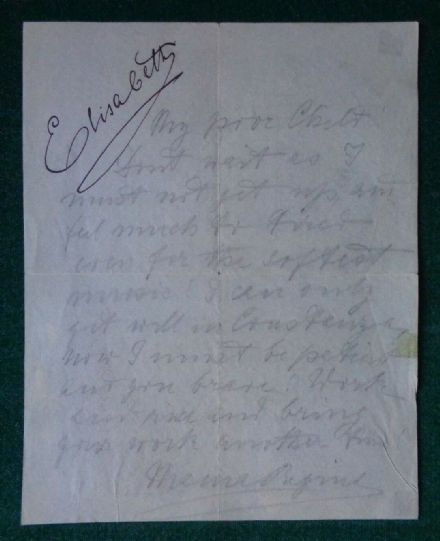 Antique Signed Letter Queen Elisabeth Mama Regina of Romania to George Enescu